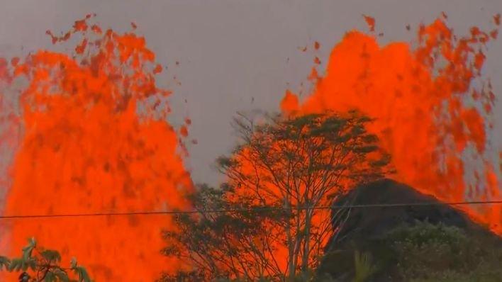 Imagini dramatice surprinse în timpul erupției Vulcanului Kilauea din Hawaii (VIDEO)