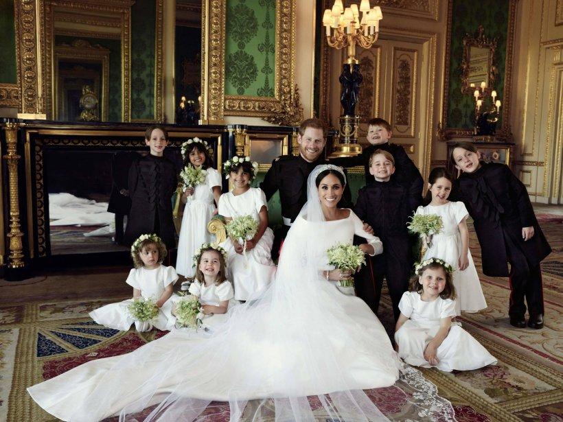Poza oficială a nunții lui Meghan Markle cu Prințul Harry conține un detaliu ascuns care face legătură cu Prințesa Diana