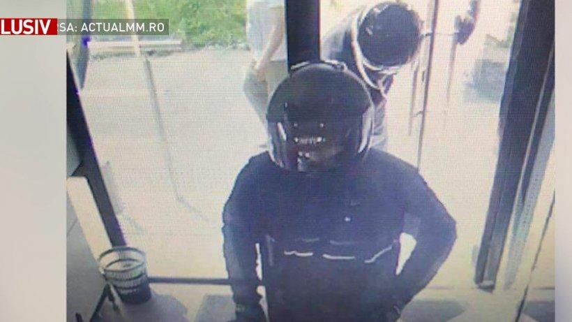 Au apărut primele imagini cu spărgătorii băncii din Baia Mare