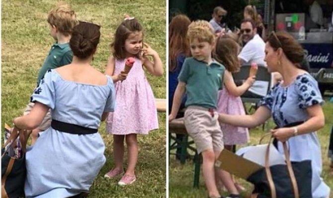 FOTO! Kate a ieșit cu copiii în parc! Arată exact ca niște copii normali nu mai sunt prinț și prințesă