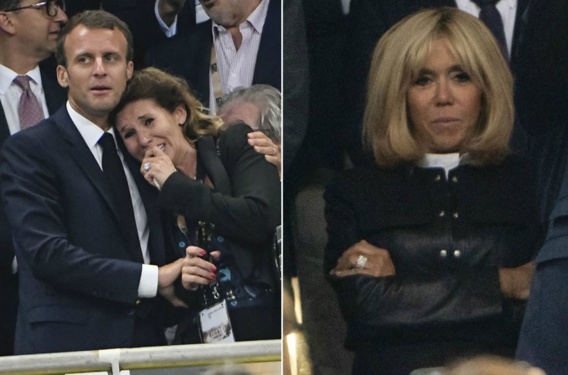 """Emmanuel Macron a """"consolat"""" o suporteră chiar sub ochii soției sale. Reacția genială a lui Brigitte Macron!"""