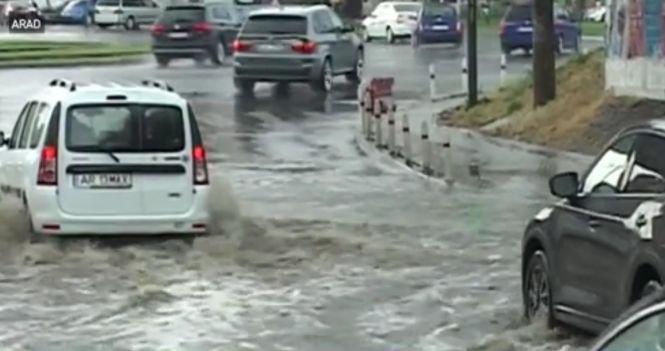 Aradul a fost paralizat de o furtună devastatoare - VIDEO