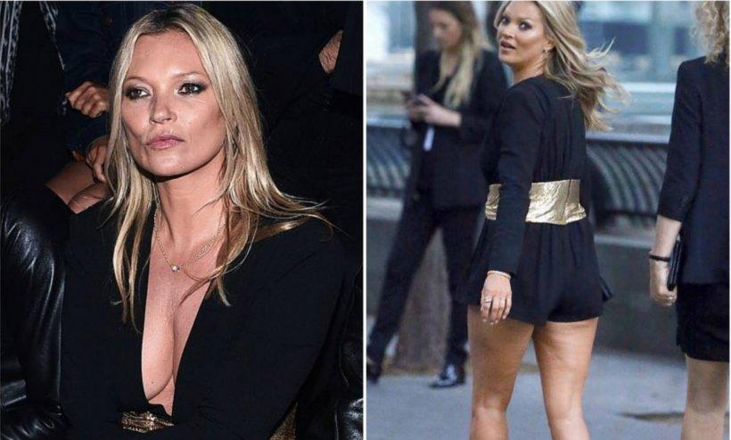 FOTO! Kate Moss plină de celulita și îmbătrânită crunt la 44 de ani! Cum arată astăzi diva de altădată?