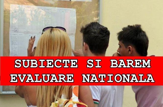 EDU.ro REZOLVARE SUBIECTE la MATEMATICĂ la EVALUARE NAȚIONALĂ 2018. Află baremul de corectare