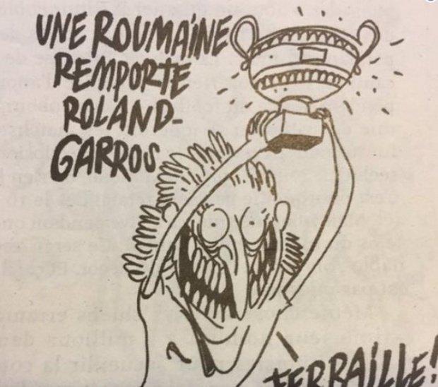 """Reacţia ambasadei Franţei, cu privire la caricatura cu Halep din Charlie Hebdo: """"Această caricatură nu reprezintă sentimentul opiniei publice franceze"""""""