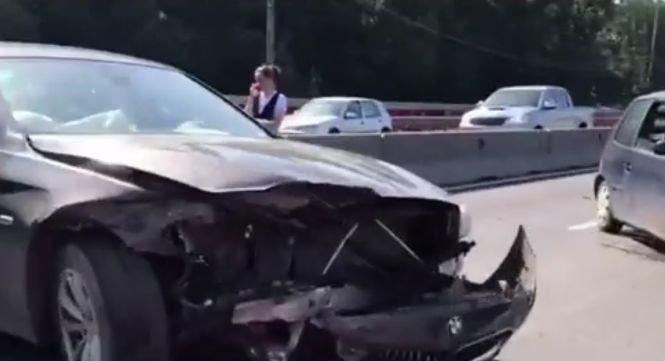 Grav accident pe DN1, la intrarea în Capitală - VIDEO