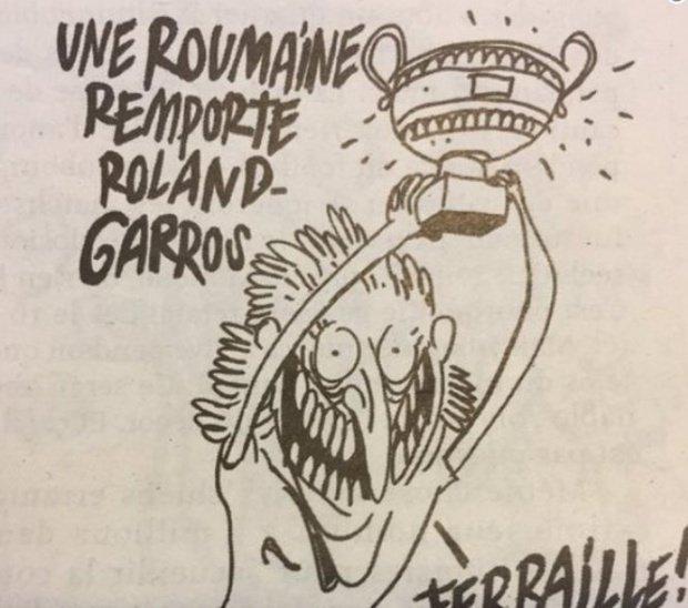 Charlie Hebdo, răspunsdupă reacțiaromânilor în cazul caricaturii cu Simona Halep