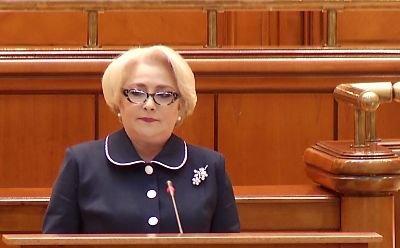 Viorica Dăncilă, huiduită de opoziție în Parlament