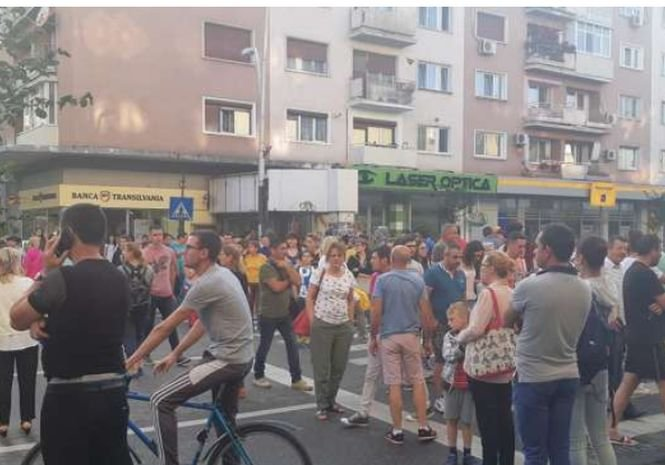 A fost protest în fața Primăriei Bacău. Orașul nu are apă de patru zile