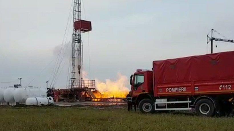 Explozie puternică la o sondă de extracţie a gazelor naturale din Harghita. Un angajat, rănit grav. Reacția companiei