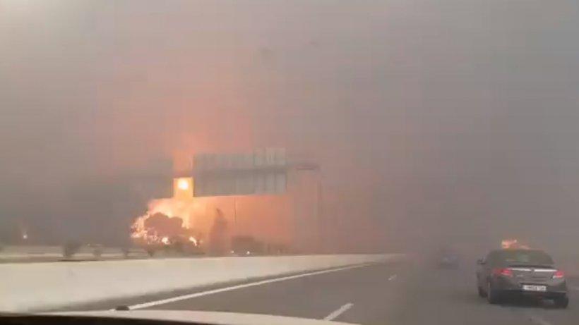 Imagini de coșmar în Atena! Capitala Greciei, acoperită de un fum sufocant - VIDEO