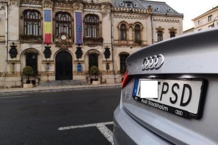 """Lovitură pentru șoferul cu """"M..E PSD"""". Numerele de înmatriculare vor fi retrase de autoritățile suedeze"""