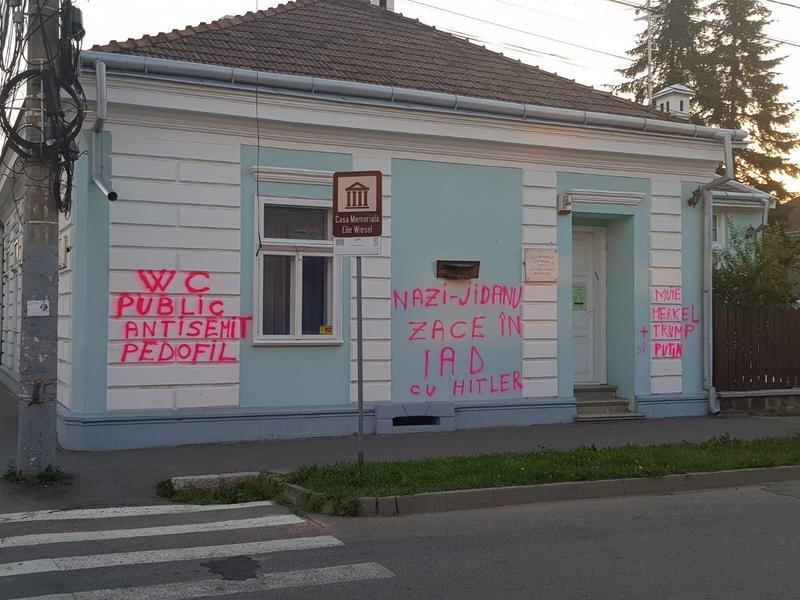 Casa din Sighetu Marmației a scriitorului Elie Wiesel, vandalizată cu mesaje antisemite 16