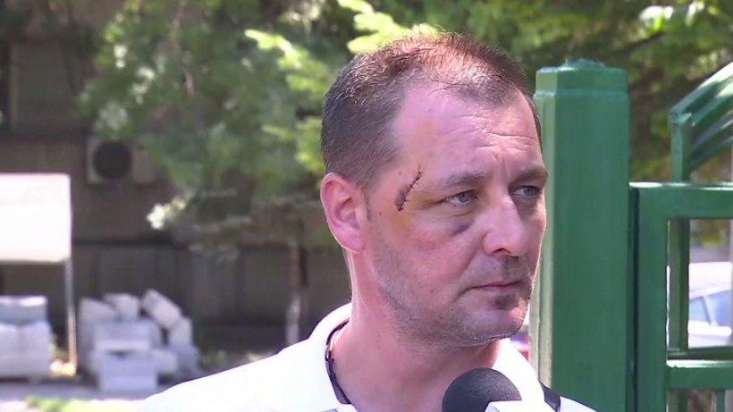 """Mărturia unui jandarm bătut la protest: """"Noi folosim niște gaze, plângi după ele două minute și trec, dar la mine?"""""""