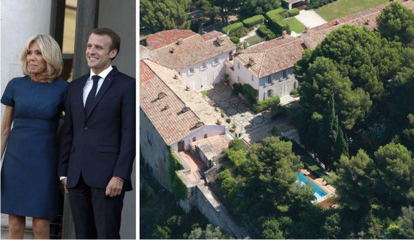 Brigitte şi Emanuel Macron şi-au construit într-o fortăreaţă o piscină de 30.000 de euro