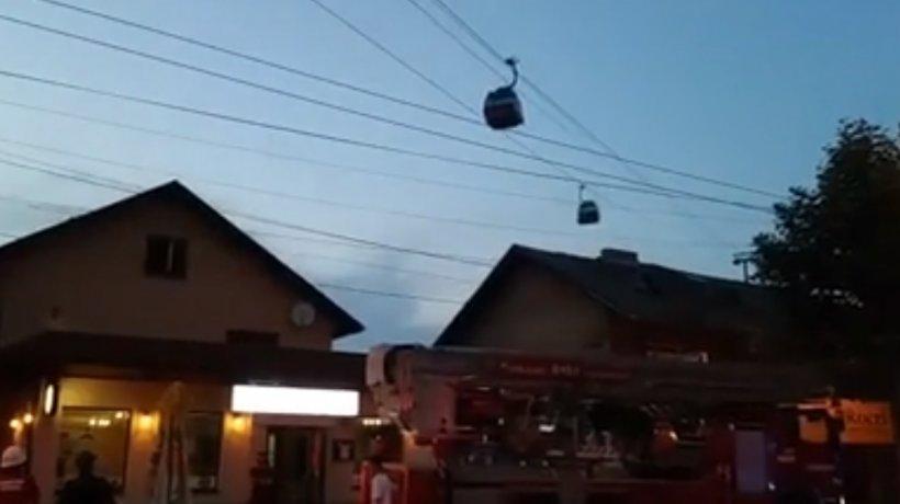 Intervenție de urgență în Piatra Neamţ! Mai multe persoane au rămas blocate în telegondole, la peste 35 de metri înălțime - VIDEO