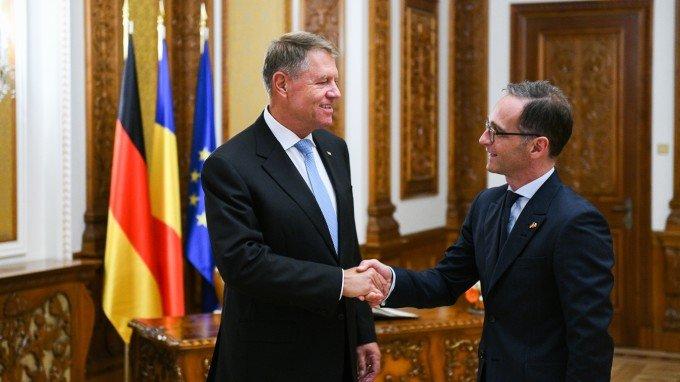 Preşedintele Iohannis l-a primit la Cotroceni pe ministrul german de Externe