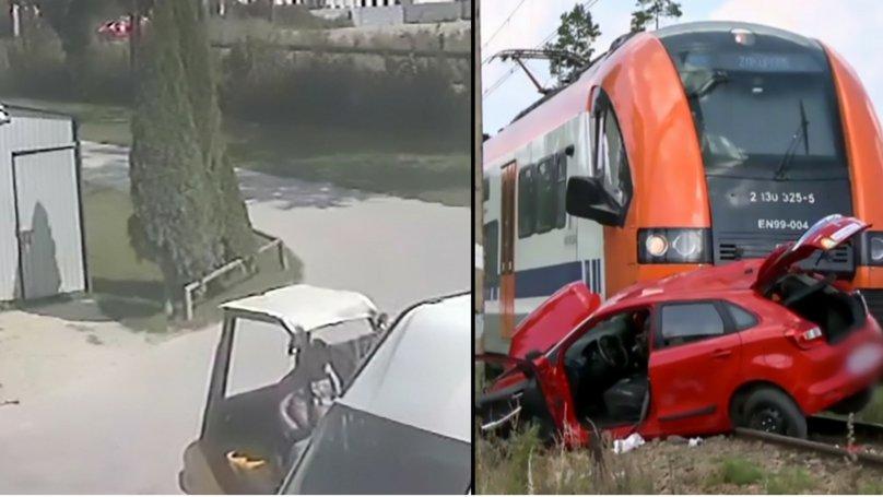 A mers să dea examenul pentru permis și a văzut în ultima clipă trenul care venea spre mașină pe calea ferată. Gestul revoltător făcut de acest instructor auto! Este oribil!