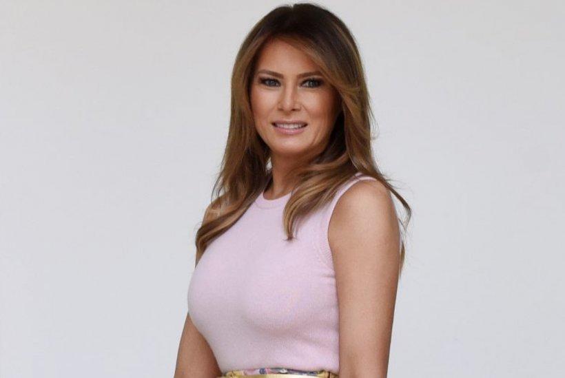 Melania Trump, o nouă lecție de stil. Iat-o într-o fustă spectaculoasă