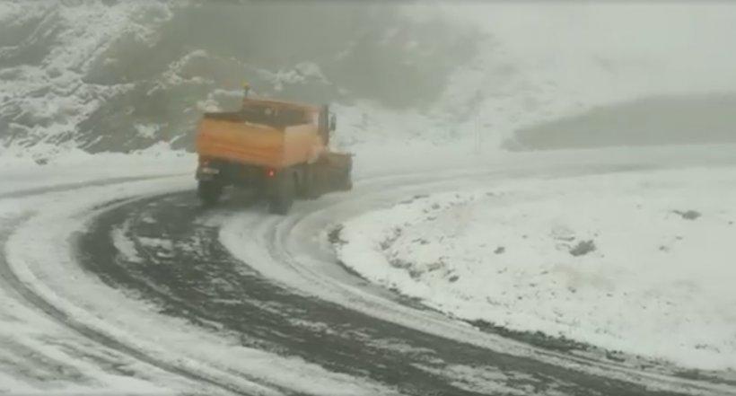A nins în România! Locul în care zăpada măsoară peste 10 centimetri