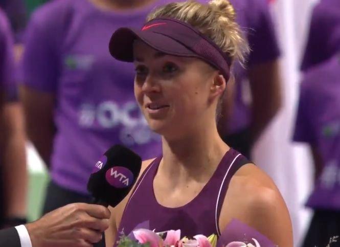 Elina Svitolina a câştigat Turneul Campioanelor de la Singapore. Prima ei reacție