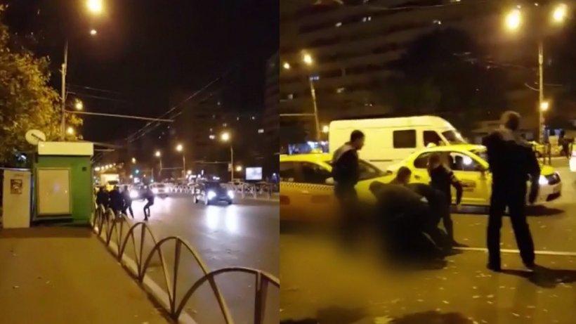 Scandal uriaș în Capitală! Tânăr încătușat după o șicanare în trafic - VIDEO