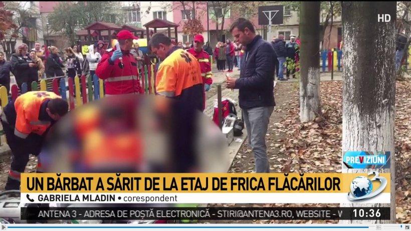 Un bărbat a murit, după ce a sărit de la etajul patru, de frica flăcărilor care i-au cuprins locuința