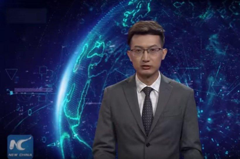 Este incredibil! A apărut primul prezentator virtual de știri. Oamenii au rămas cu gura căscată când au văzut ce poate face - VIDEO