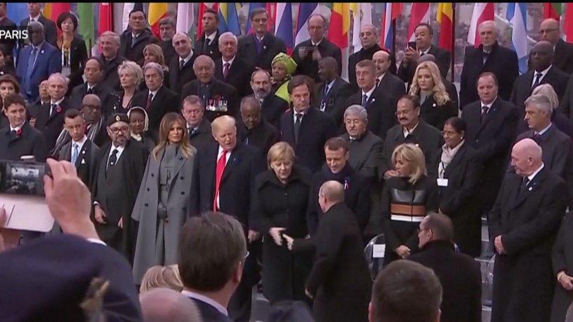 Peste 70 de lideri politici din întreaga lume participă, la Paris, la celebrarea Centenarului sfârşitului Primul Război Mondial