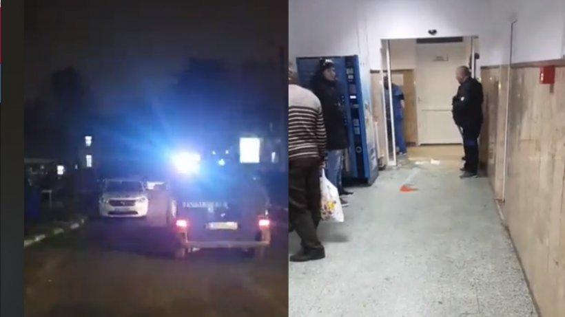 Scandal la un spitaldin Târgovişte!Un paznic a fost rănit, iar mai multe geamuri au fost sparte - VIDEO