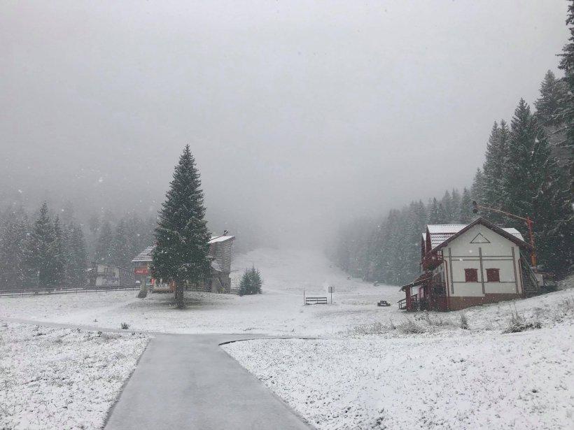 S-a instalat iarna în țară! Cum arată acum Poiana Brașov - VIDEO