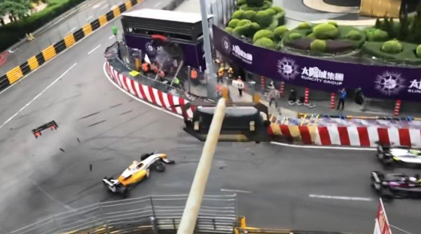Accident grav într-o cursă de Formula 3. Mai multe persoane rănite. VIDEO cu momentul impactului
