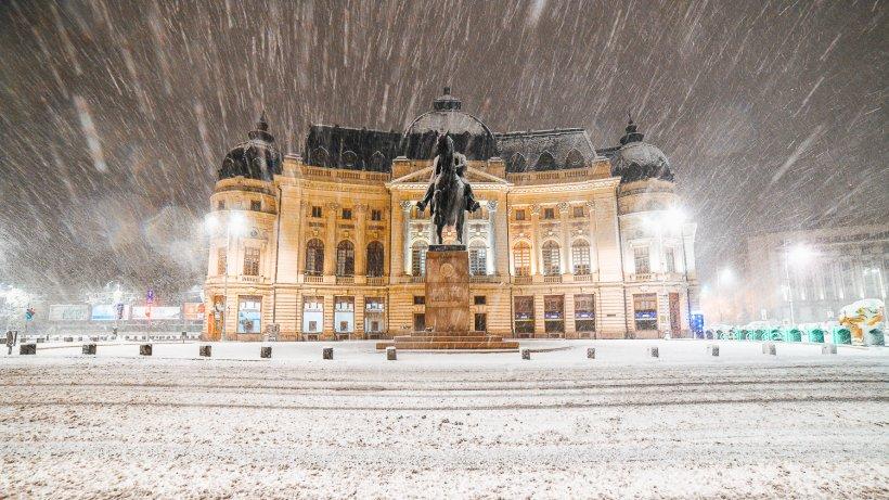 18 noiembrie - București. Fotografii cu prima zăpadă din această iarnă