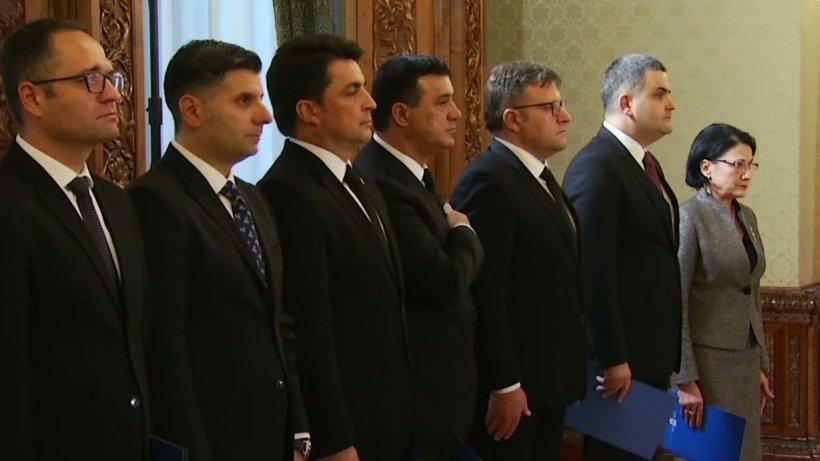 Noii miniştri din Guvernul Dăncilă au depus jurământul, la Palatul Cotroceni