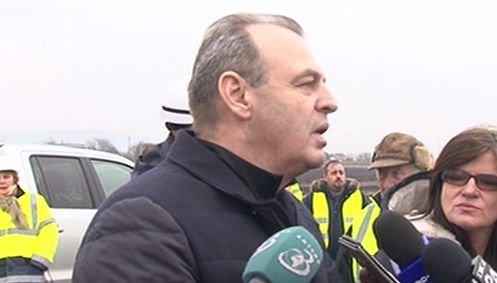 Ministrul demisionar Lucian Șova, din nou în inspecție pe șantier