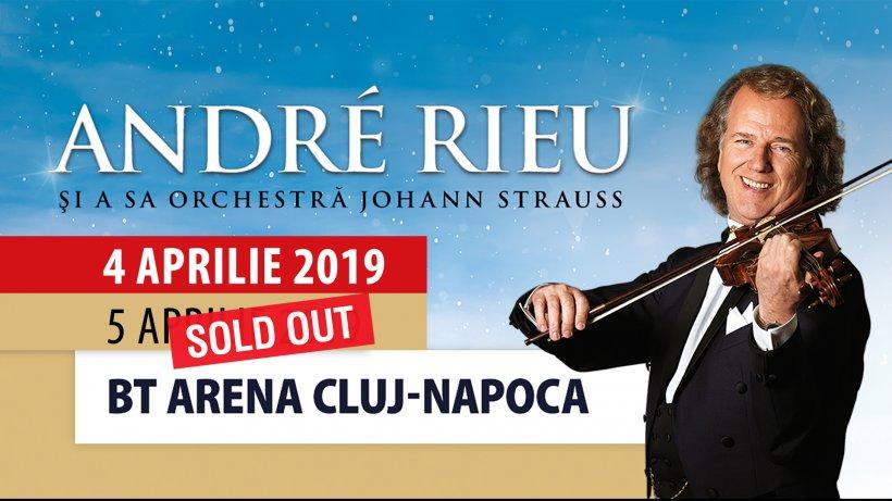 Primul concert Andre Rieu de la Cluj, sold out în trei ore. Artistul va susține un concert suplimentar