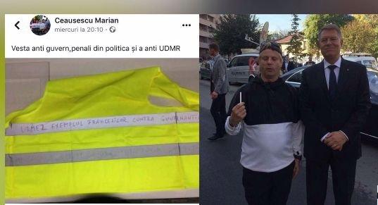 Descoperiți. Omul care s-a pozat cu Iohannis vrea proteste ca-n Franța