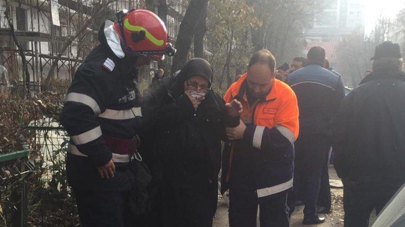 Dorel lovește din nou. Un incediu puternic a izbucnit în Capitală, după ce muncitorii au tăiat din greșeală țeava de gaze