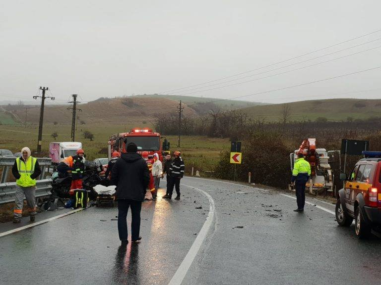 Accident rutier grav pe DN7! A fost activat Planul Roşu de intervenţie