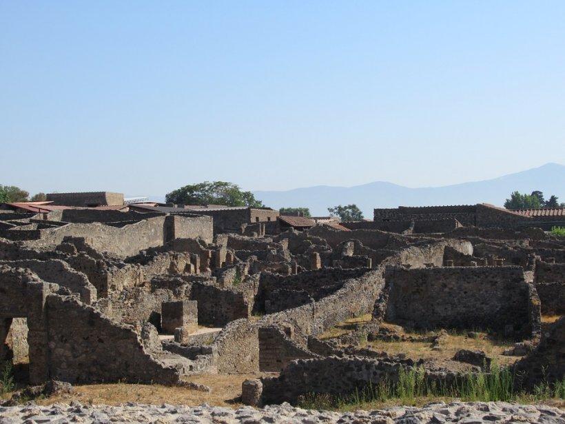 Arheologii au descoperit rămăsițele unui cal din Pompeii care încă purta un ham, de pe vremea când a erupt vulcanul FOTO