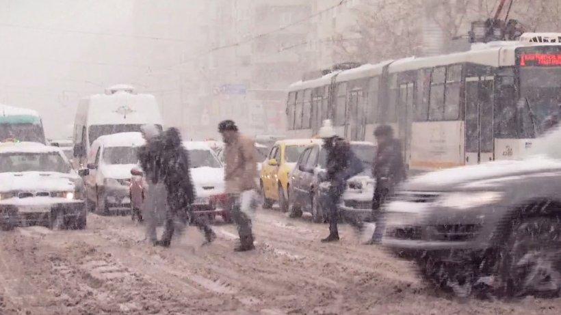 Atenționare meteo! ANM anunţă ninsori în Capitală în următoarele zile
