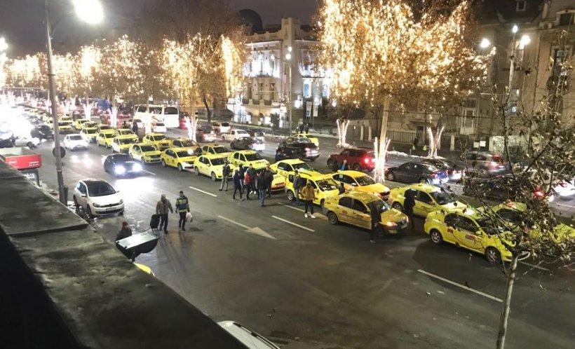 Protest Taximetristi: Protest Spontan Al Taximetriștilor. Trafic Blocat în