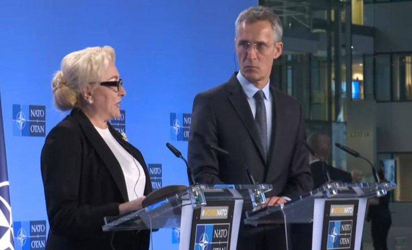Viorica Dăncilă, întâlnire cu secretarul general NATO
