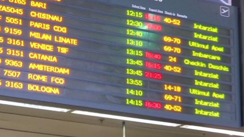 Haos pe Aeroportul Otopeni. Aeronavele înregistrează întârzieri mari