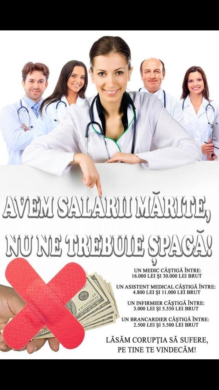 Un afiș a apărut pe pereții spitalului din Slatina. Pacienții au crezut că nu văd bine