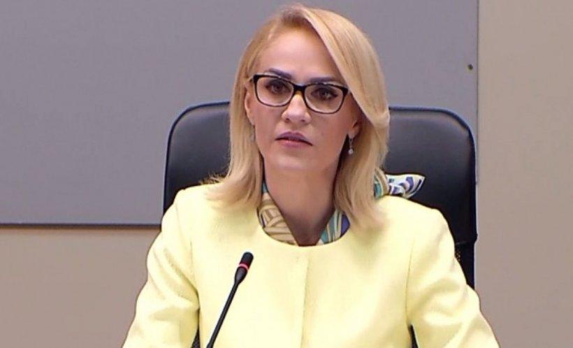 """Gabriela Firea, despre proiectul de buget: """"Primăria Capitalei pierde bani. Aşteptăm de la doamna prim-ministru o reacţie"""""""