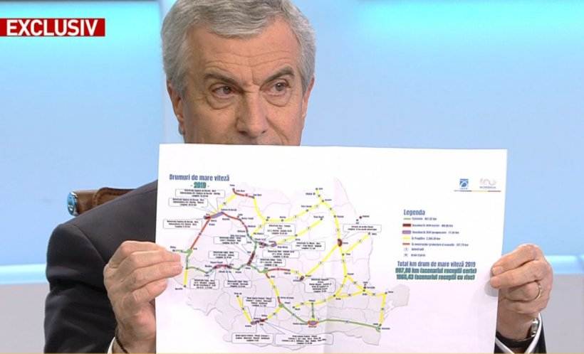 """Călin Popescu Tăriceanu, la """"100 de minute"""": Anul acesta putem avea un număr record de kilometri de autostradă 16"""