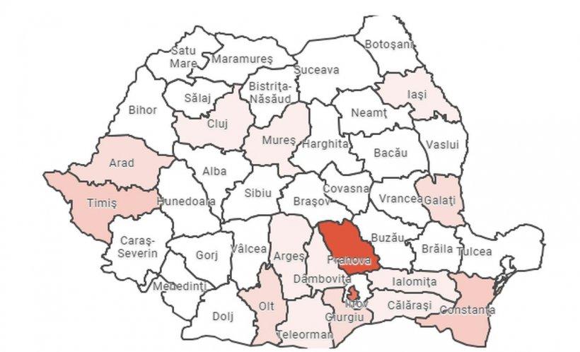 Harta gripei în România! Care sunt cele mai afectate județe