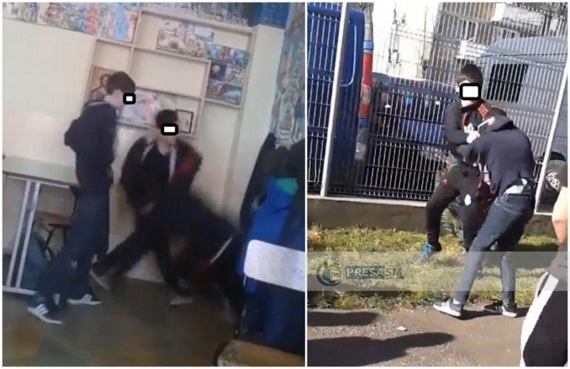 Bătăi repetate între mai mulți elevi la o școală generală din municipiul Satu Mare - VIDEO