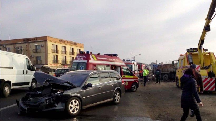 Accident în lanț în Bistrița-Năsud: 8 victime. Toată scena a fost filmată -VIDEO